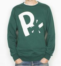 Bluza by Parra (Rockwell)  - Crew Neck Moving On - forest green  [bluza]