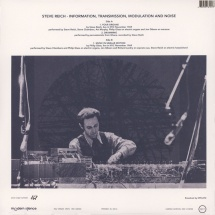 Steve Reich - Information, Transmission, Modulation And Noise [LP]