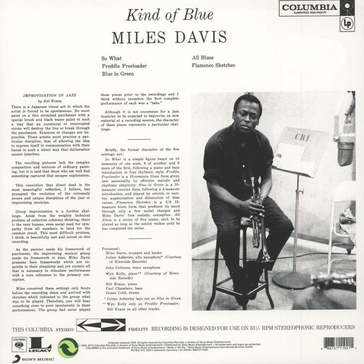 Miles Davis Kind Of Blue Blue Vinyl Edition Lp