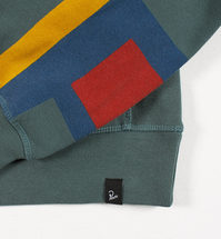 Bluza by Parra - Crew Neck Colored P - mallard green [bluza]