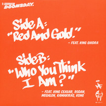 "MF Doom - Red & Gold/ The Hands Of Doom/ Who You Think I Am [7""]"