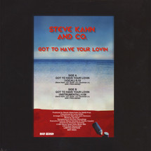 """Steve Kahn And Co. - Got To Have Your Lovin [12""""]"""