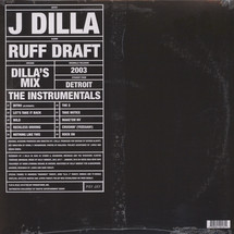 J Dilla - Ruff Draft: The Dilla Mix (Instrumentals) [2LP]