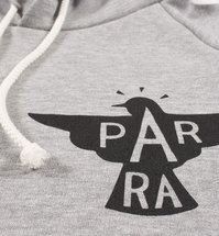 Bluza by Parra - Hooded Sweater Jackdaw Logo - heather grey