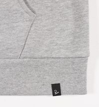 Bluza by Parra - Hooded Sweater Jackdaw Logo - heather grey [bluza]