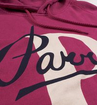 Bluza by Parra - Hooded Sweater Painterly Script - purplepink