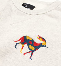 Bluza by Parra - Crew Neck Sweater Retired Racer - oatmeal [bluza]