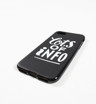 Etui by Parra - iPhone Case Lots Of Info 7 or 8 - black [szt.]