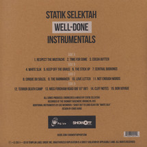 Statik Selektah / Action Bronson - Well Done Instrumentals [2LP]