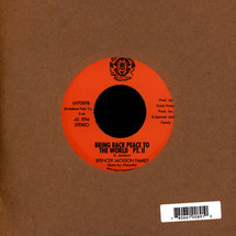 "Spencer Jackson Family & The Pharoahs - Bring Back Peace To The World Pt. 1&2 [7""]"