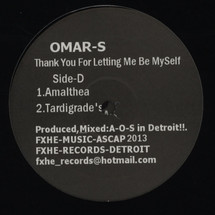 Omar S - Thank You For Letting Me Be Myself: Part 1 [2LP]