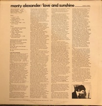 Monty Alexander - Love And Sunshine [LP]