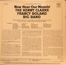 The Kenny Clarke Francy Boland Big Band - Now Hear Our Meanin