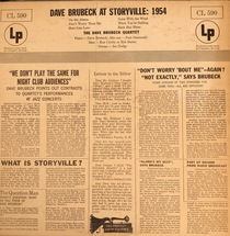 The Dave Brubeck Quartet - Dave Brubeck At Storyville: 1954 [LP]