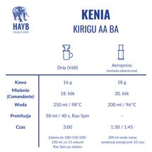Kawa ziarnista - Kenia Kirigu AA Barrel Aged [szt.]