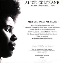 Alice Coltrane - Carnegie Hall