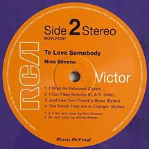 Nina Simone - To Love Somebody [LP]