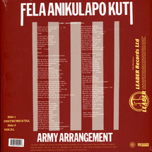 Fela Kuti - Army Arrangement [LP]