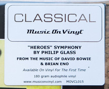Philip Glass - Heroes Symphony [LP]