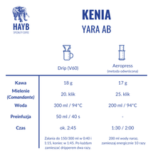 Kawa ziarnista - Kenia Yara AB [szt.]