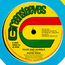 "Wayne Wade - Poor And Humble / Babylonian (Extended) [12""]"