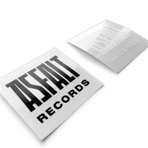 Naklejki by ASFALT  - Pakiet stickerów ASFALT logo III [pakiet]