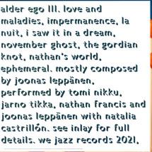 Alder Ego - III (Transparent Orange Vinyl)