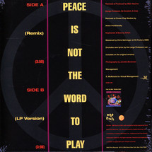 Main Source - Peace Is Not The Word To Play