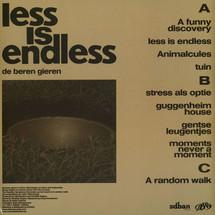 De Beren Gieren - Less Is Endless (Gatefold Cover)
